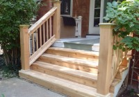 Wood Porch With Stone Steps